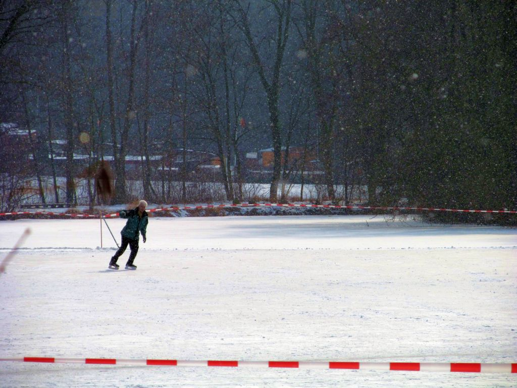 Skating on the pond