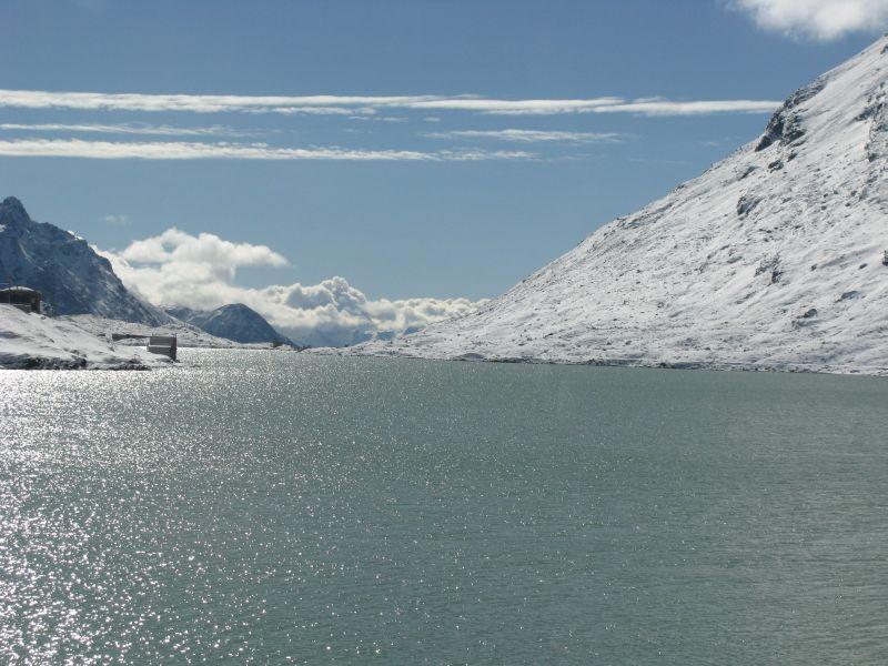 Near the glaciers in the Swiss Alps.